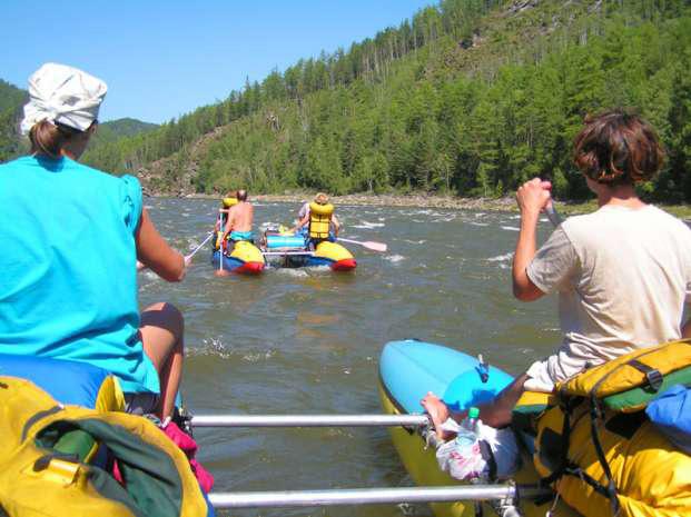 Сплав в среднем течении реки Иркут